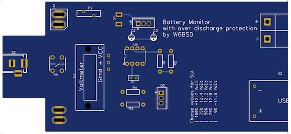 Battery Monitor PCB top side