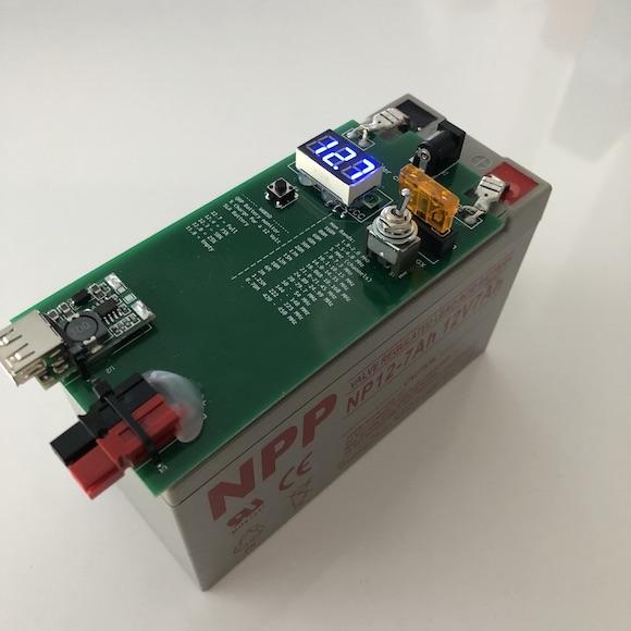 Battery Monitor PCB bottom side