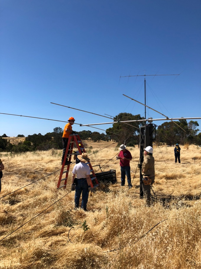 Field Day 2019 antenna assembly